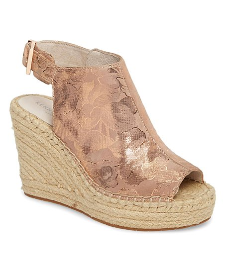 6cf8f2f35d6 love this product Rose Gold Olivia Metallic Floral Olivia Espadrille Wedge  - Women