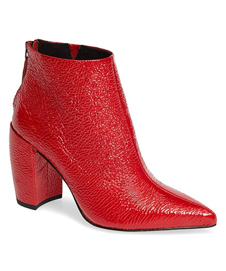 c7dc1411abf Kenneth Cole New York Red Alora Textured Leather Bootie - Women
