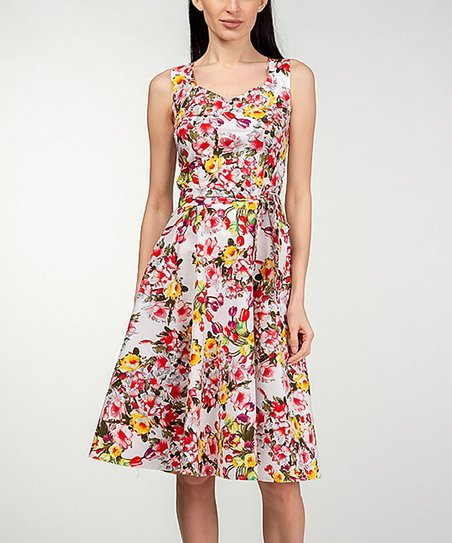 a6bc70127fe love this product Pink   Yellow Floral Midi Dress - Women