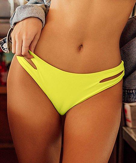 76b975c2ea4 love this product Yellow Seamless Moderate Cutout Bikini Bottoms - Women