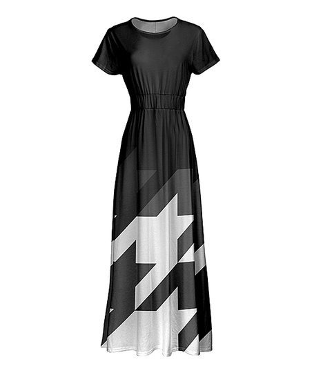 3c0fe9e447d love this product Black   White Oversize-Houndstooth Maxi Dress - Women    Plus