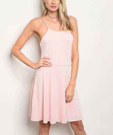 love this product Pink Sleeveless Skater Dress - Women 07f97eb8a9