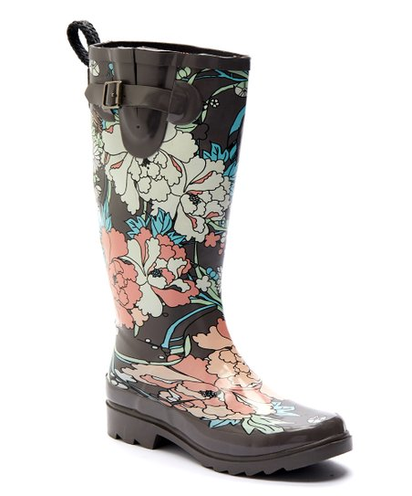 f44b62c46 Sakroots Charcoal Rhythm Rain Boot - Women | Zulily