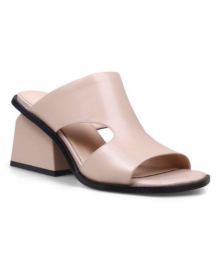 fb7941333f Jady Rose Apricot Cutout Chunky-Heel Leather Pump - Women | Zulily
