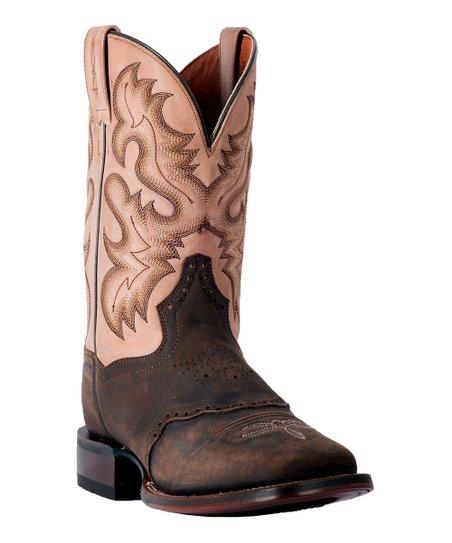 Tan Vance Leather Cowboy Boot - Men