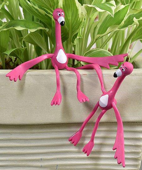 Pink Flamingo Plant Tie - Set of Two