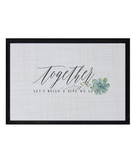 Sincere Surroundings 'Let's Build a Life We Love' Framed Wall Sign