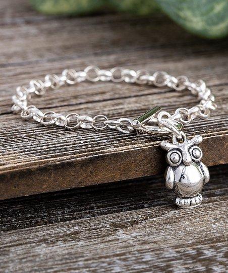 Willowbird Sterling Silver Owl Charm Bracelet Zulily