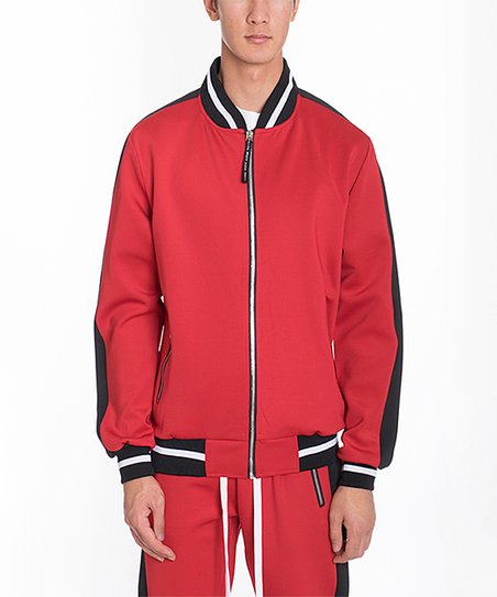 love this product Red   Black Track Jacket - Men   Tall 9d0f836a1