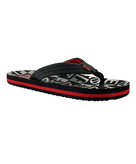 91956eef1 love this product Black   Gray Reef Little Ahi Flip-Flop - Kids