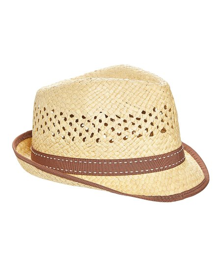 abec1a0c Something Special Natural & Brown Contrast-Trim Fedora | Zulily