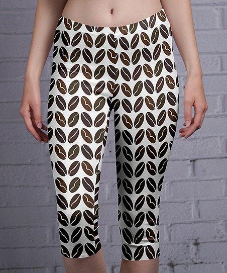39f56e33141e7 love this product Black & White Geometric Capri Leggings - Women & Plus