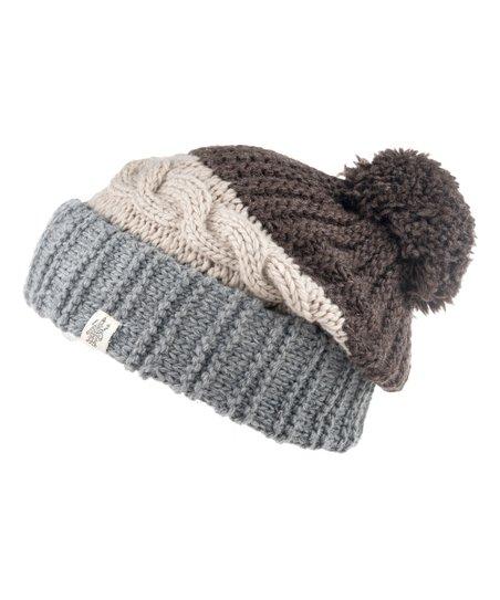 Nirvanna Designs Oatmeal Prospect Merino Wool Pom-Pom Beanie  ce4e7c5c3a6