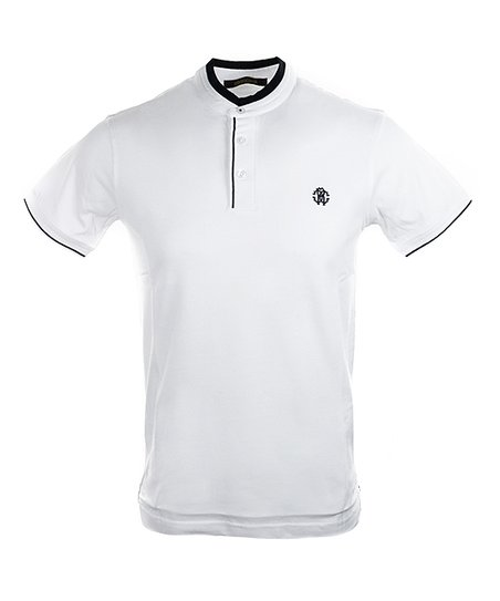 e801c61a Roberto Cavalli White Collarless Polo - Men | Zulily
