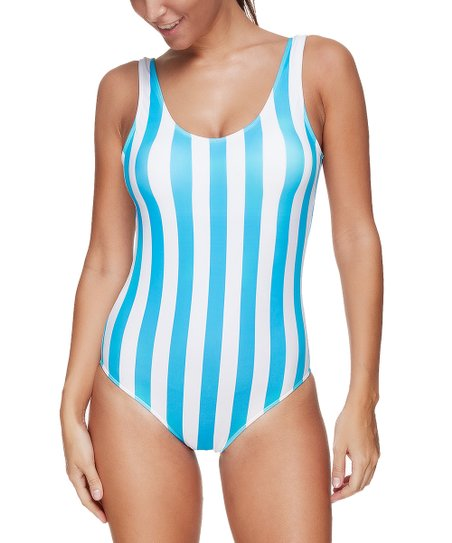 3f5f441fb10 love this product White & Blue Stripe One-Piece - Women