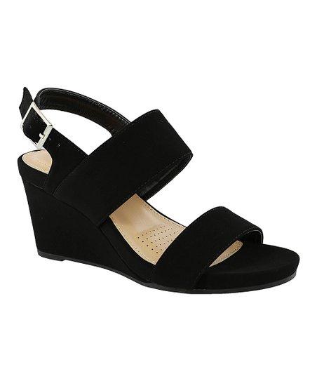 ac1c1049775 TOP MODA Black Evrard Wedge Sandal - Women