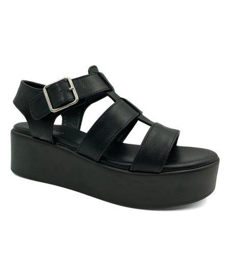 2ad0bb769fae Bamboo Black Bonus Three-Strap Platform Sandal - Women