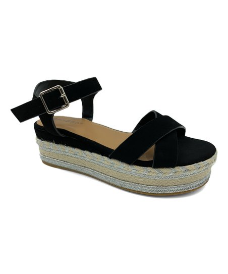 8fae2209757 Bamboo Black Infinity X-Strap Platform Sandal - Women