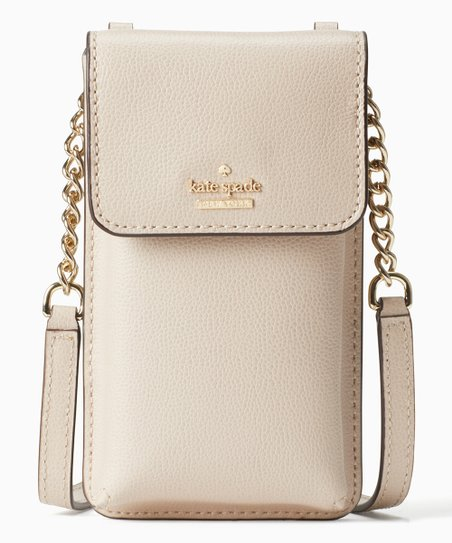 hot sale online 77231 fb49f Kate Spade Warm Beige Patterson Drive Leather Cell Phone Crossbody Bag