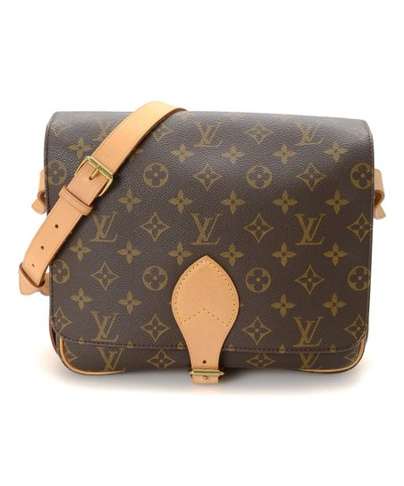 fd2c3173ed23 Louis Vuitton Pre-Owned Brown Monogram Cartouchiere GM Crossbody Bag ...