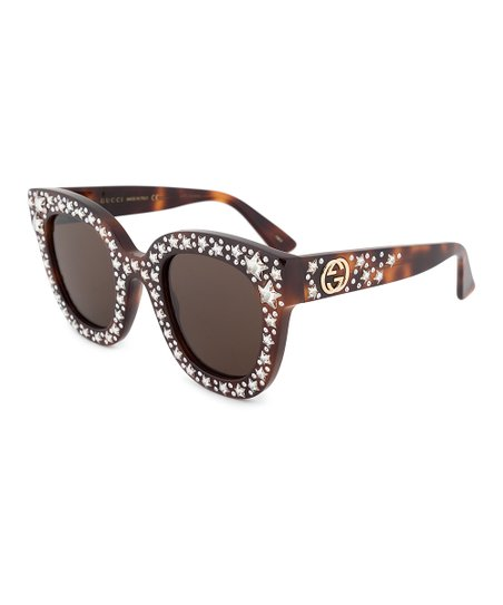 bf573b45e44 Gucci Crystal   Tortoise Star Cat-Eye Sunglasses With Swarovski ...