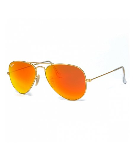 887c601f1e95 love this product Orange   Gold Mirrored Aviator Sunglasses - Unisex