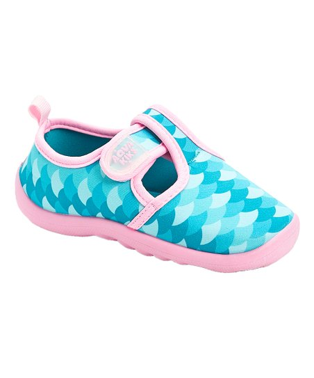d2820c181891 AquaKiks Aqua   Pink Mermaid Scales Water Shoes - Girls