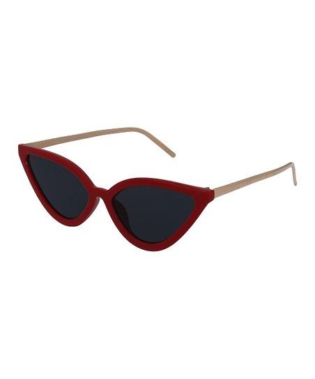 2a1b5d023ec8 Ego Eyewear Red & Gray Smoke Cat-Eye Sunglasses | Zulily