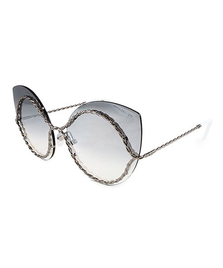 a580acc994eda love this product Gray Mirror-Lens Oversize Cat-Eye Sunglasses - Women