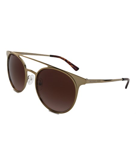 ffdd1f7c4263 love this product Pale Goldtone & Brown Gradient Grayton Modified Aviator  Sunglasses