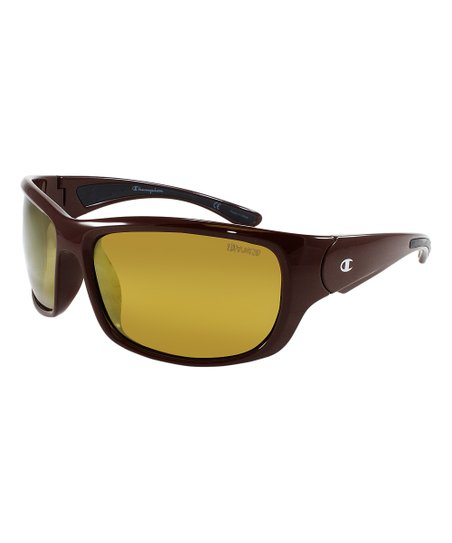 d8db7d4576d0 love this product Maroon & Black Gold Mirror Polarized Sport Sunglasses