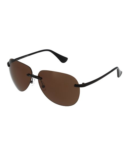8f6d4927a Floats Polarized Brown Polarized Modified Aviator Sunglasses | Zulily