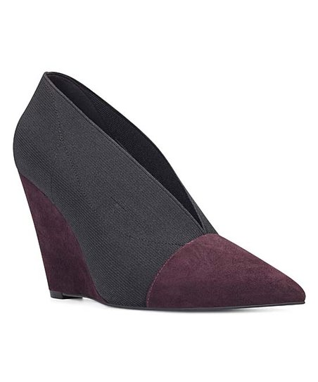 32f61341f5d love this product Maroon   Black Pointed-Toe Valrus Wedge - Women