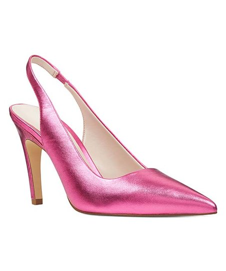 d1750b045c2c love this product Metallic Pink Quinnifer Leather Slingback Pump - Women