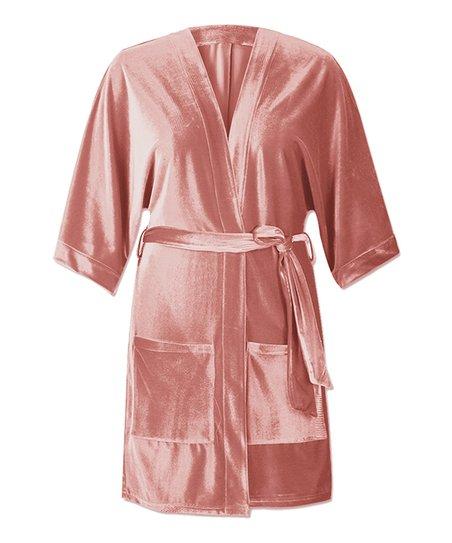 282288663c love this product Pink Robe Satin Robe - Women   Plus