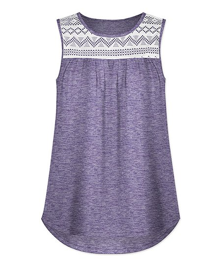 8dcf2e541a252 love this product Purple Lace-Yoke Sleeveless Top - Women   Plus