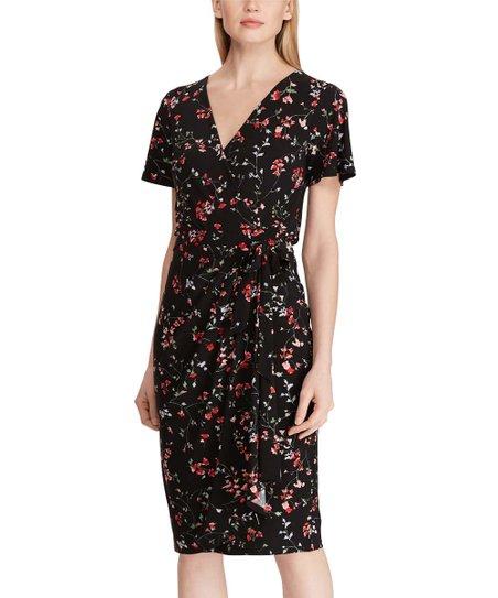 3e60b98f2b7533 ... Ralph Lauren: Dresses Back. Ended Mon 5/20 at 6am PDT. all gone. Black  & Red Floral Short-Sleeve Jersey Wrap Dress - Women