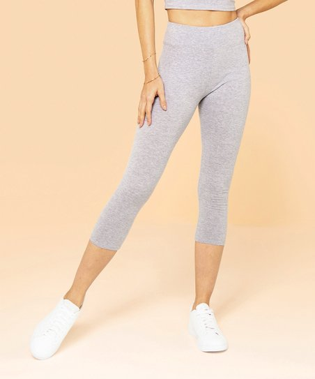 8000a615a0787 Jupee Heather Gray Capri Leggings - Women & Plus | Zulily
