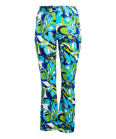 01a9e0b8d4a23 Zenobia Blue Abstract Flare Pants - Plus | Zulily