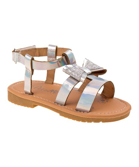 8e7079c17 love this product Silver Bow Sandal - Girls