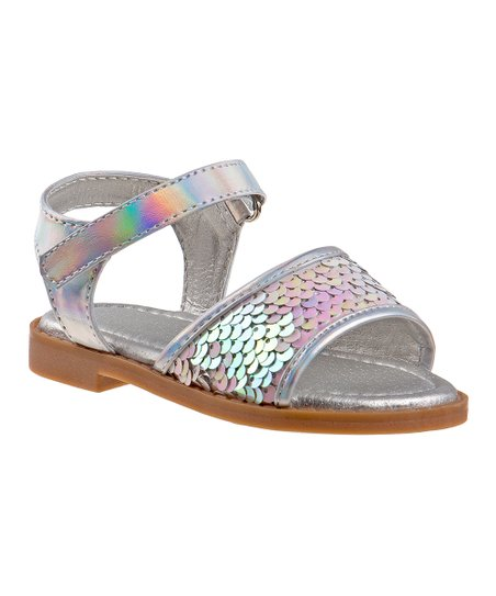 74f7ae81eca8 Laura Ashley® Silver Sequin Sandal - Girls | Zulily