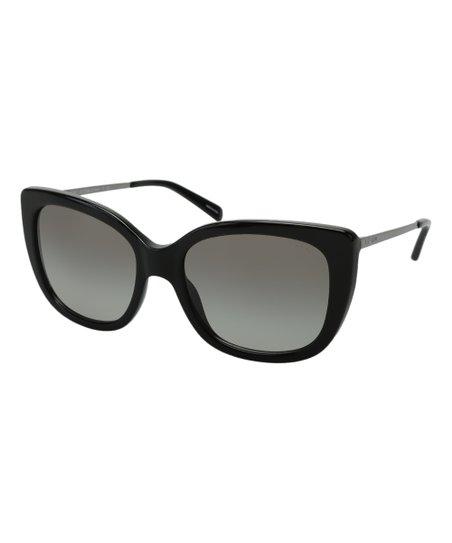 457ee530c8bff Coach Black   Dark Gray Signature Square Sunglasses