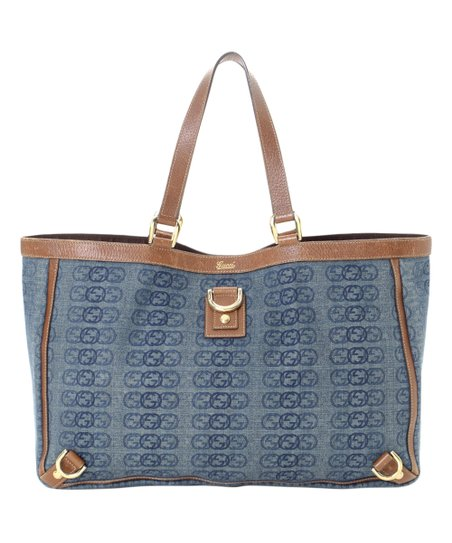 269a25e3c7dd love this product Pre-Owned Blue Jean Abbey Canvas Tote
