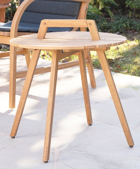 Magnificent Southern Enterprises Brown Pamona Round Eucalyptus Wood Outdoor Side Table Download Free Architecture Designs Aeocymadebymaigaardcom