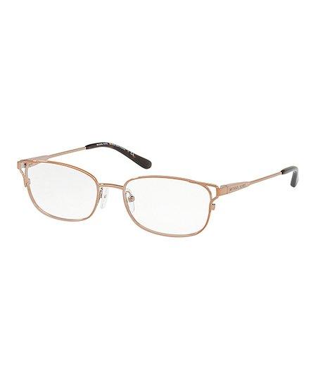 eccb5138671a Michael Kors Sable Gold Cutout Rectangle Eyeglasses | Zulily