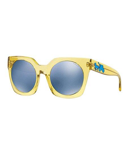 6ec802c09c43 love this product Transparent Yellow Round-Lens Square Sunglasses