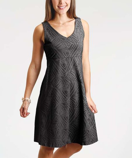 49c1fa413693fe Fresh Produce Black Ocean Tide Olivia Empire-Waist Dress - Women ...
