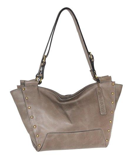 Nino Bossi Handbags Stone Monica Leather Hobo  686481932eafb