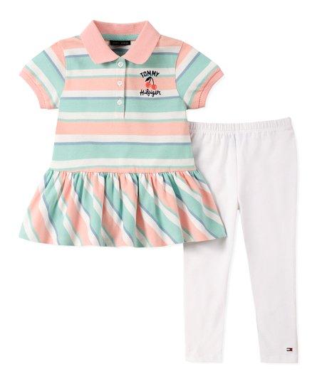 6ba1ea0c0 Tommy Hilfiger Blue & Pink Stripe Polo & Skirt - Toddler & Girls ...