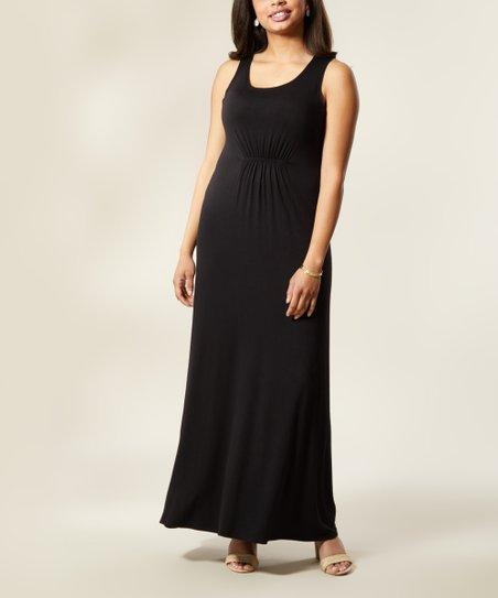 55c2a154f18 Bella Floré Black Empire-Waist Maxi Dress - Plus